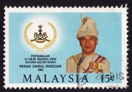 MALAYSIA 1985 Coronation Of Perak Sultan 15c Sc#317 - USED @PM099 - Malaysia (1964-...)