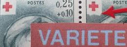 R1591/328 - 1962 - CROIX ROUGE - N°1367 TIMBRES NEUFS** - VARIETE ➤➤➤ Bas Du Cartouche à La Croix Rouge Déformé - Variétés Et Curiosités