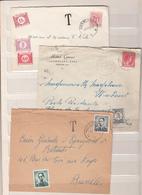 Belgique      Timbres Taxe    Sur  Enveloppes - Postage Due
