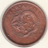 Chine Tsingkiang/ Kiangsu-Kiangsoo Province. 10 Cash ND (1905) Cuivre. Y # 78.2 - Cina