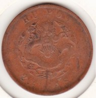 Chine Empire HUPOO, HU POO. 20 Cash ND (1903) Cuivre. Y# 5 - Cina