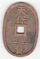 Japon 100 Mon Type 1835-1870 , Avec Poinçons Sur La Tranche - Japon