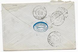 1871 - OISE - ETIQUETTE COMMERCIALE HORLOGERIE Sur LETTRE De SENLIS - Postmark Collection (Covers)