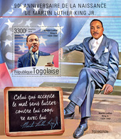 Togo. 2019 90th Anniversary Of Martin Luther King Jr. (0253b)   OFFICIAL ISSUE - Martin Luther King