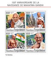 Togo. 2019 150th Anniversary Of Mahatma Gandhi. (0252a)   OFFICIAL ISSUE - Mahatma Gandhi