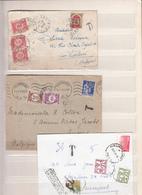 Belgique      Timbres Taxe    Sur  Enveloppes - Belgium