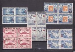 Filipinas Nº 498 Al 502 En Bloque De Cuatro - Filipinas
