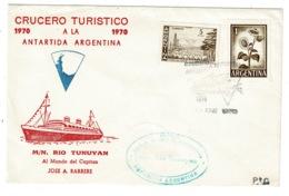 Ref 1311 - 1970 Argentina Maritime Cover - M/N Rio Tunuyan Antarctic Cruise - Cachet - Argentina