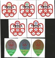 V) 1976 TONGA, OLYMPIC GAMES MONTREAL, FIRST PARTICIPATION, MNH - Tonga (1970-...)