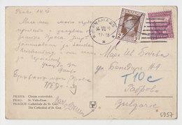 #5957 Czech 1920s View Postcard Sent To Bulgaria Additional Fee Stamp Poste Restante - Cecoslovacchia