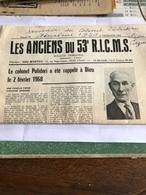 Les Anciens Du 53 E R.I.C.M.S.du 2 E Trimestre 1968 - Journaux - Quotidiens
