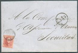 N°12 - Médaillon 40 Centimes Vermillon, Obl. P.85 Sur Lettre De NAMUR Le 10-11-1862 Vers Anvers . - 14506 - 1858-1862 Medaglioni (9/12)