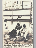 Pola Pula Real Photo Seamen At Work Sent 1904 - Croazia
