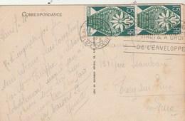 Yvert 211 X 2 Exposition Arts Décoratifs Cachet Flamme PARIS Rue Chopin 4/9/1925 Sur Carte Postale - France