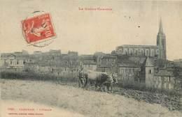 CPA 31 Haute Garonne Caraman L'Eglise Attelage Boeufs Labour Labourage - France