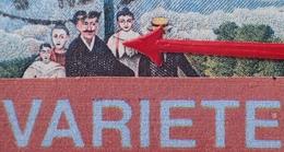 R1591/337 - 1967 - ROUSSEAU - PAIRE N°1517 ☉ - VARIETE ➤➤➤ Femme à La Bretelle Rouge - Plaatfouten En Curiosa