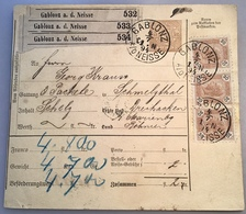 """GABLONZ 1894"" = Jablonec Böhmen Post-Begleitadresse (Österreich Brief Fruit Apfel Pomme Apple Cover Czech Republic - Cartas"