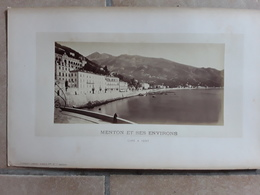 GRANDE GROTE ORGINELE FOTO AFMETINGEN  42 CM OP 26 CM  MENTON ET SES ENVIRONS FRANCE - Ancianas (antes De 1900)