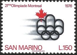 V) 1976 SAN MARINO, 21ST OLYMPIC GAMES, MNH - San Marino