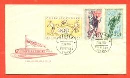 SPORT- - OLIMPIADI-CECOSLOVACCHIA- 1956 - MARCOFILIA - FDC