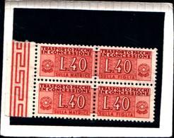 6266B) ITALIA-2X40 Lire- Pacchi In Concessione -Filigrana Ruota- 1 Luglio 1953-MNH** - 1946-.. République