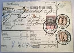 """""""KÖNIGL WEINBERGE 1893"""" = Prag Böhmen Post-Begleitadresse(Österreich Vin Wine Wein Brief Czech Republic - 1850-1918 Imperium"""