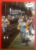 SAMSUNG Fiamma Olimpica Giochi Invernali 2006 Torino Pubblicità Cartolina Promocard 5498 - Publicidad