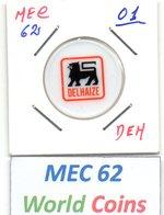 MEC 62 - LUXEMBOURG JETON DE CHARIOT DE SUPERMARCHÉ DELHIZE - Tokens & Medals