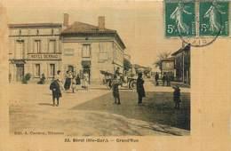 CPA 31 Haute Garonne Bérat Grand'Rue Grande Hotel Derrac Colorisée Toilée - Autres Communes