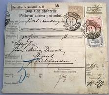 """""""GIESSHÜBEL 1898"""" =  Böhmen Post-Begleitadresse(Österreich Bergbau Mining Mines Brief Czech Republic - Briefe U. Dokumente"""