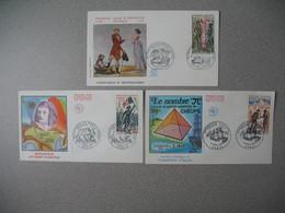 FDC France 1972  N° 1729 - 1730 - 1731 - 1970-1979