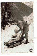 CPA- Carte Postale - Belgique - Bonne  Année-Une Maman Et Sa Fille Sur Un Traîneau-1938 VM5100 - Nieuwjaar