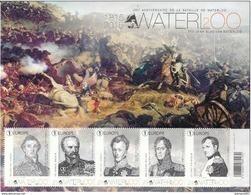 OCB Nr 4532/36 BL229 Blok 229 Waterloo Bonaparte Napoleon Napoleone Wellington Blucher MNH !!! - Bélgica
