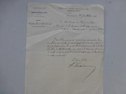 MONTMORILLON Proposition Dr Lhuillier Pour Médaille Des épidémies, 1913, Lettre Autographe, Ref 433 ; PAP04 - Autographes