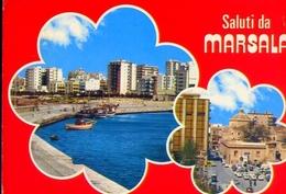 Saluti Da Marsala - Trapani - Formato Grande Viaggiata – E 13 - Marsala