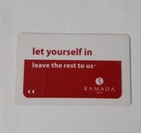 HOTEL KEYCARD -  (  RAMADA  HOTEL    ) SOFIA BULGARIA - Cartes D'hotel