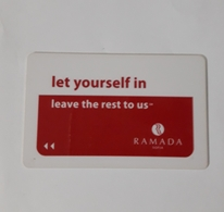 HOTEL KEYCARD -  (  RAMADA  HOTEL    ) SOFIA BULGARIA - Hotelkarten