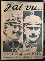 Revue J'ai Vu WWI N°91 12 Aout 1916 - Sonstige