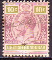 British Honduras 1913 SG #105 10c Used Wmk Mult.Crown CA Dull Purple And Yellow-green CV £6.50 - British Honduras (...-1970)