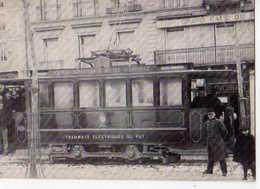 43 Autrefois En VELAY Le Tramway Du Puy Sur Le Breuil En 1897, Carte Moderne - Frankreich