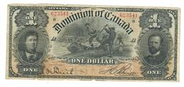 Dominion Of Canada , 1 Dollar 1898. P-24. VG/F. Rare - Kanada