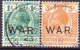 British Honduras 1918 SG #119-120 Compl.set Used Optd WAR - British Honduras (...-1970)