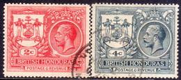 British Honduras 1921-22 SG #121,123 2c,4c Two Issues Used Peace Commemoration - British Honduras (...-1970)