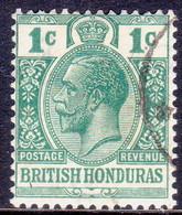 British Honduras 1921-22 SG #122 1c Used Wmk Mult.Script CA CV £13 - British Honduras (...-1970)
