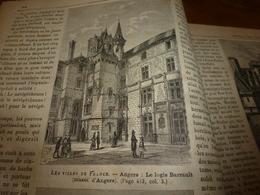 1882 JDV: Angers :texte Et Grav(Logis Barrault Et Adam, Hôtel De Pincé, Abbaye Du Ronceray,Statue Equestre Louis XII) - Kranten