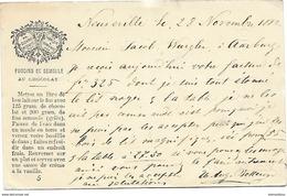 """4 - 35 - Entier Postal """"Suchard"""" Avec Cachets à Date Neuveville Et Aarburg 1882 - Entiers Postaux"""