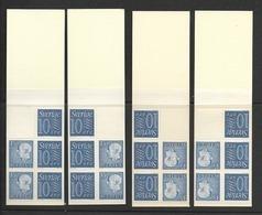 HA 10 1962 MNH Slot Machin Booklets, Set Of 4 - Carnets
