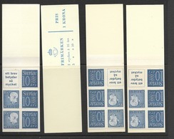 HA 11A 1962 MNH Slot Machin Booklets, Set Of 4 - Carnets