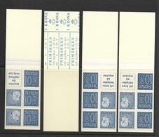 HA 11B 1963 MNH Slot Machin Booklets, Set Of 4 - Carnets