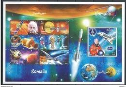 Somalie Space  Albert EINSTEIN  Football Concorde Sheetlet - Albert Einstein